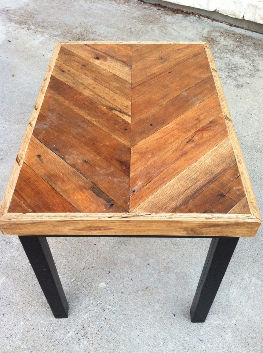 Small Chevron Table The Grain